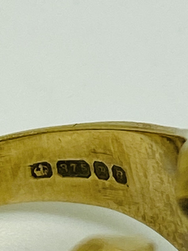 9K yellow gold Ring - image 3