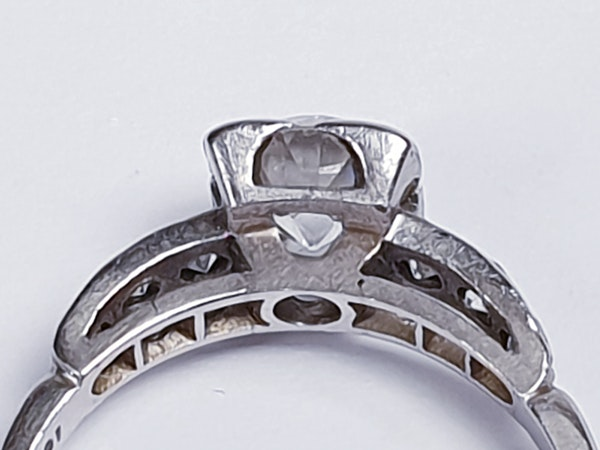 Art Deco Round Transitional Diamond in a Square Setting DBGEMS - image 4