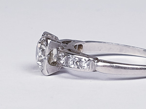 Art Deco Round Transitional Diamond in a Square Setting DBGEMS - image 5