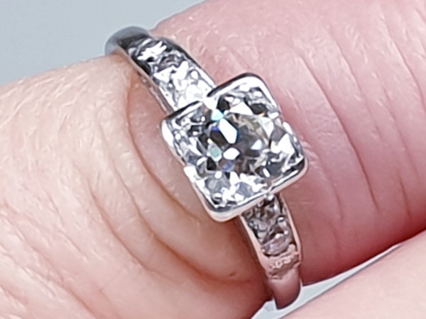 Art Deco Round Transitional Diamond in a Square Setting DBGEMS - image 2