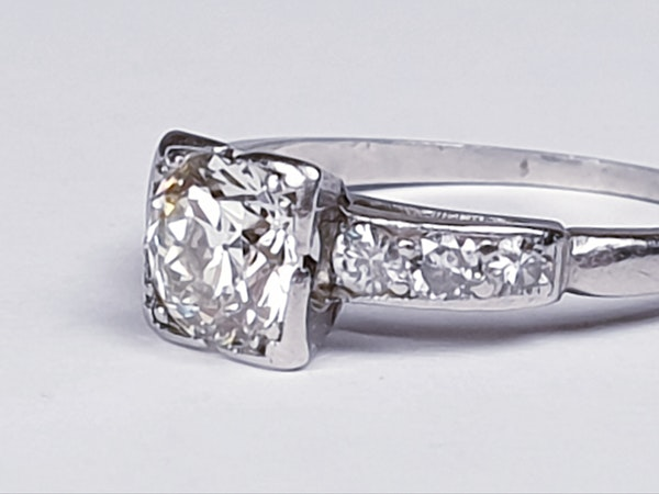 Art Deco Round Transitional Diamond in a Square Setting DBGEMS - image 3