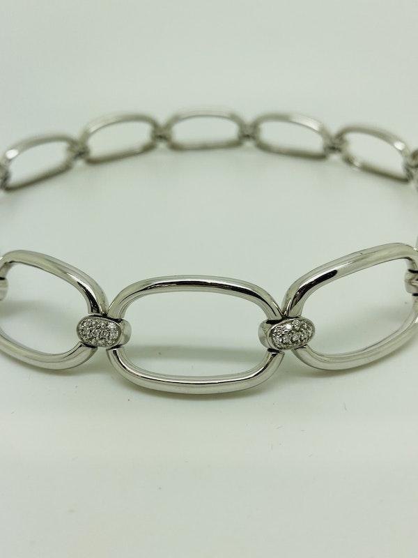 18K white gold Diamond Choker/Necklace - image 2