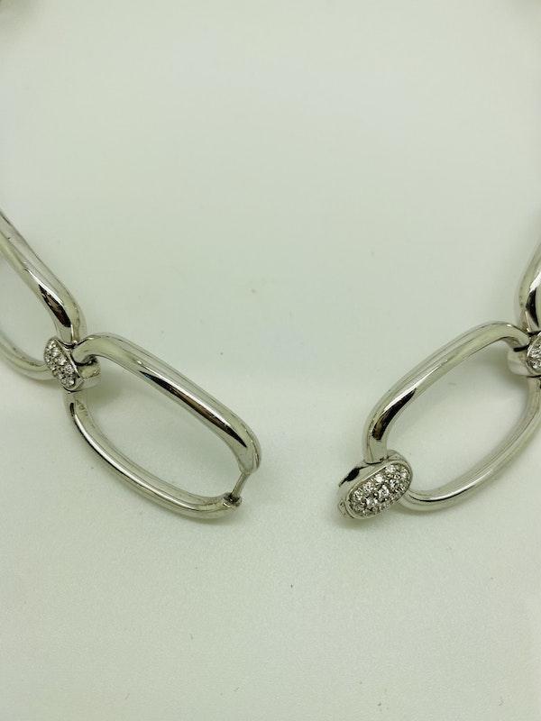 18K white gold Diamond Choker/Necklace - image 3