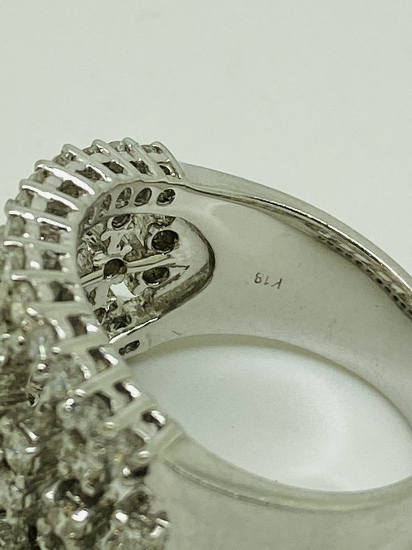 18K white gold Diamond Ring - image 5