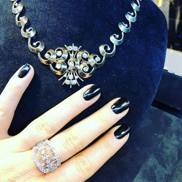 18K white gold Diamond Ring - image 6