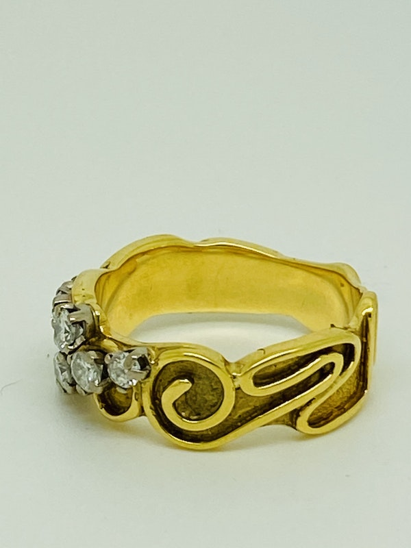 18K yellow gold 0.35ct Diamond Ring - image 2