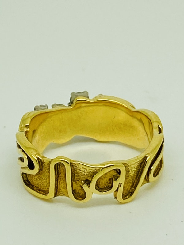 18K yellow gold 0.35ct Diamond Ring - image 3