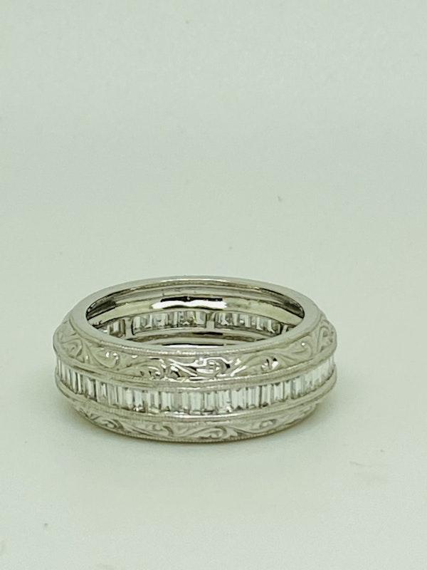 Eternity Ring, 18K white gold 1.35ct Diamond Ring - image 3