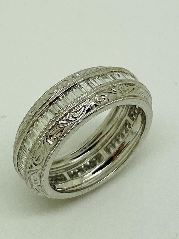 Eternity Ring, 18K white gold 1.35ct Diamond Ring - image 2