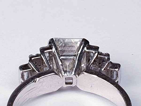 1.50ct Square Diamond Engagement Ring  DBGEMS - image 3