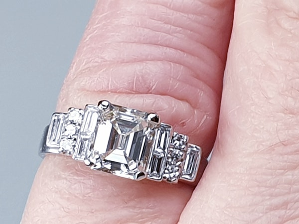 1.50ct Square Diamond Engagement Ring  DBGEMS - image 2