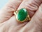 Jade Signet Ring Set in 22ct Gold  DBGEMS - image 5