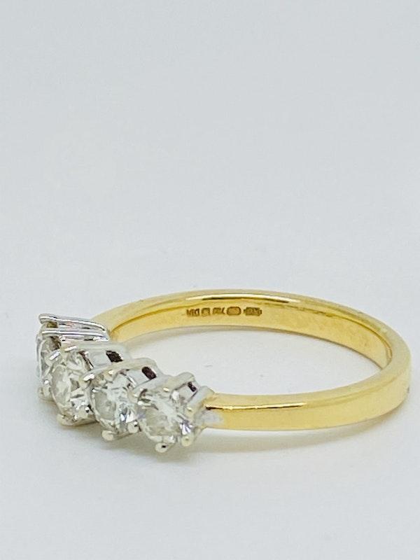 Half Eternity 5-stone Diamond Ring. - image 3