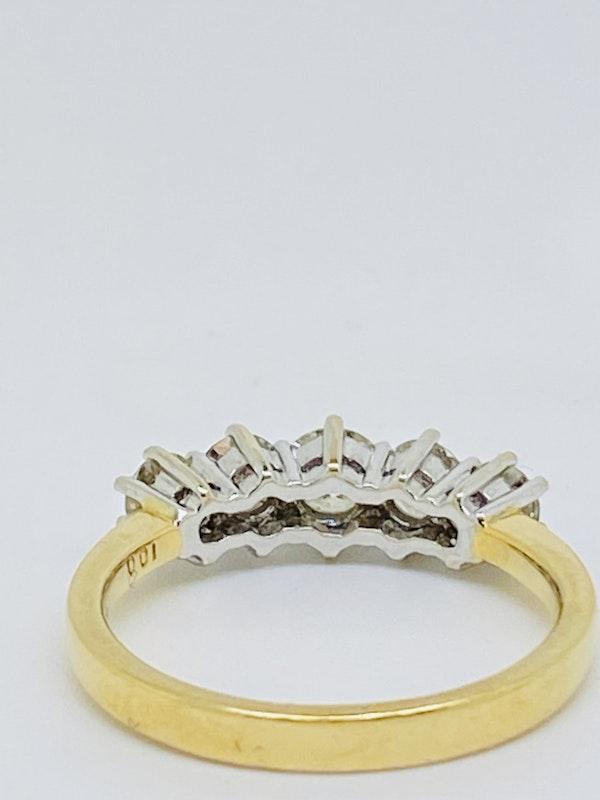 Half Eternity 5-stone Diamond Ring. - image 4