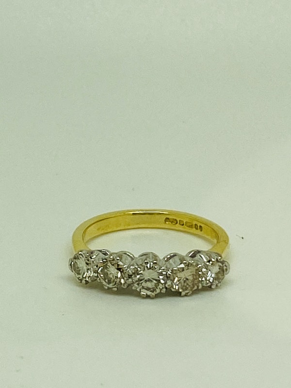 Half Eternity 5-stone Diamond Ring. - image 2
