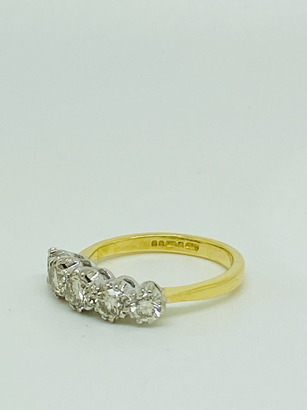 Half Eternity 5-stone Diamond Ring. - image 3