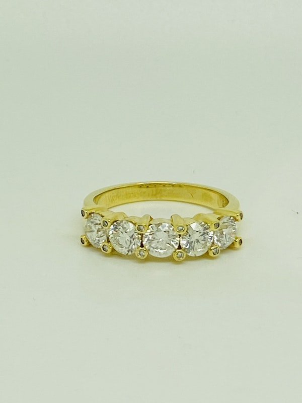 Half Eternity 5-stone Diamond Ring - image 1