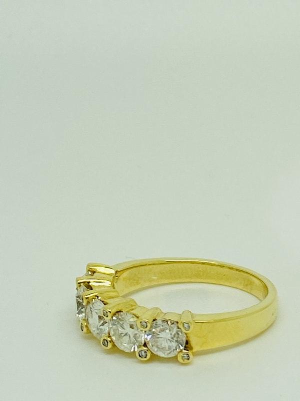 Half Eternity 5-stone Diamond Ring - image 2