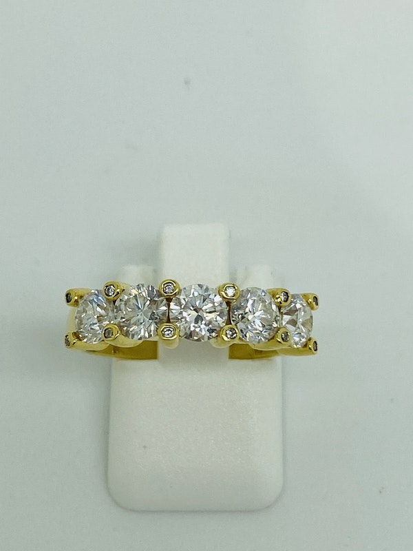 Half Eternity 5-stone Diamond Ring - image 3
