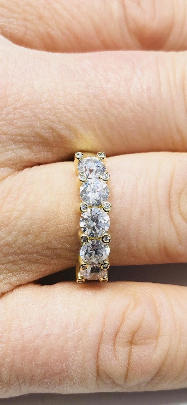 Half Eternity 5-stone Diamond Ring - image 4