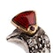 Late 19th Century Brooch of a Standing Grouse Pavé Set with Diamonds, English circa 1875. - image 2