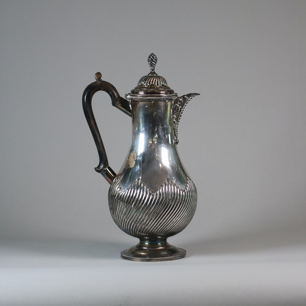English Sheffield plate silver ewer and cover - image 3