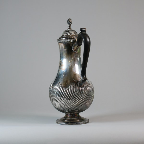 English Sheffield plate silver ewer and cover - image 4