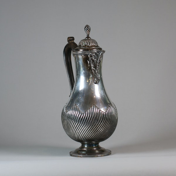 English Sheffield plate silver ewer and cover - image 5