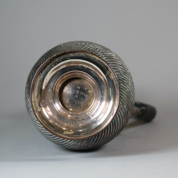 English Sheffield plate silver ewer and cover - image 6