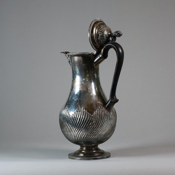 English Sheffield plate silver ewer and cover - image 2