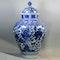 Large Japanese blue and white Arita octagonal vase - image 1
