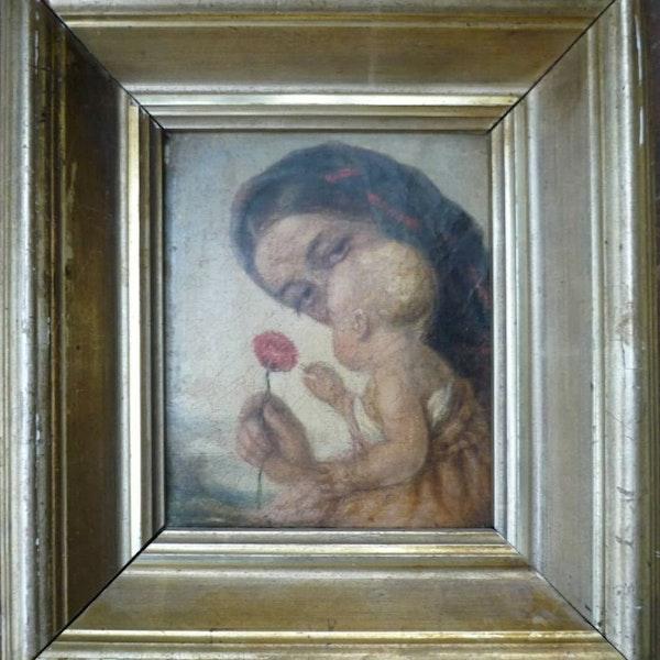 Attr. Alexei Gavrilovich Venetsianov Motherhood Oil Painting Circa.1820 - image 1