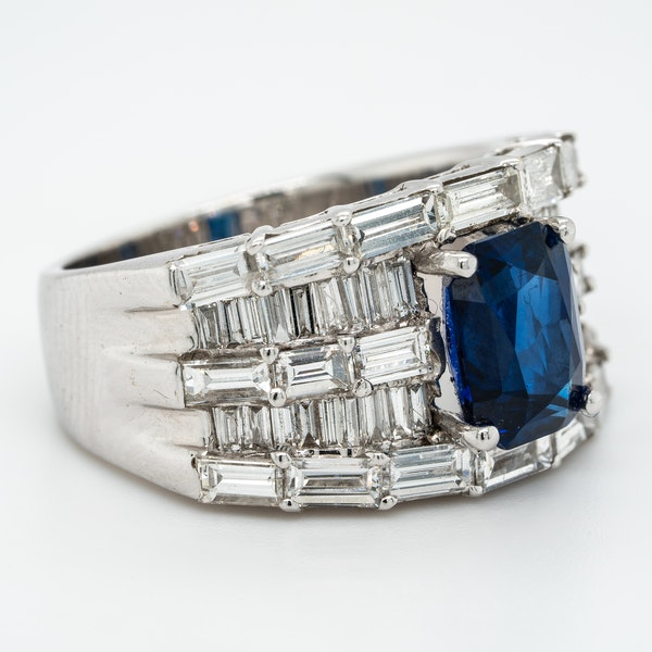 A Sapphire and Diamond Cocktail Ring Offered by The Gilded Lily - image 2