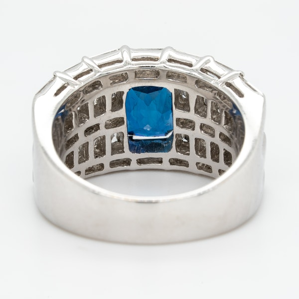 A Sapphire and Diamond Cocktail Ring Offered by The Gilded Lily - image 3