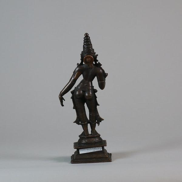 Indian bronze figure of a Goddess, probably Parvat - image 3