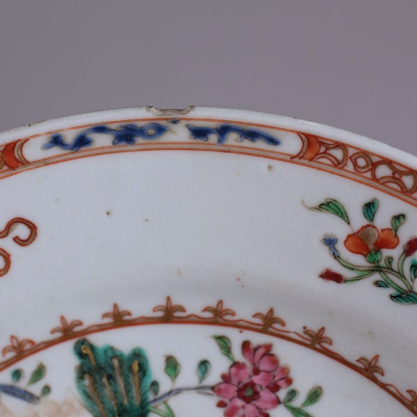 Pair of Chinese 'double-peacock' plates, Qianlong - image 5