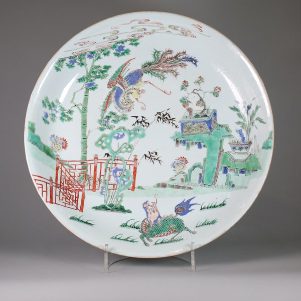 Chinese famille verte dish, early Kangxi (1662-1722) - image 1
