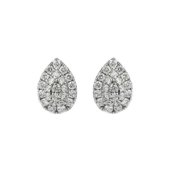 Drop shaped diamonds earrings - image 1