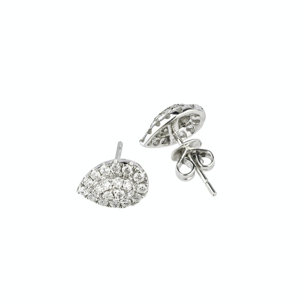 Drop shaped diamonds earrings - image 2