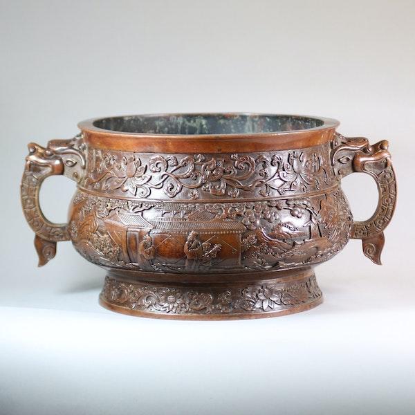 Chinese large bronze censer - image 3