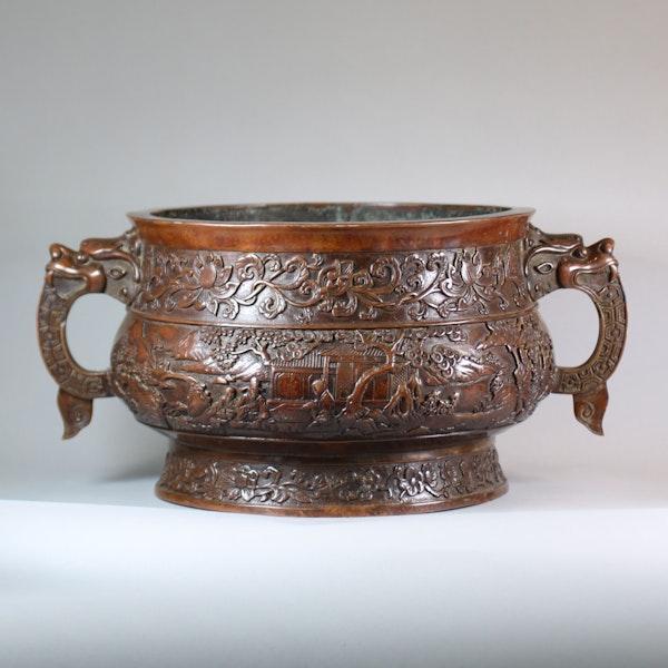 Chinese large bronze censer - image 8
