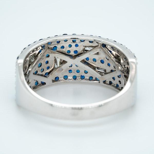 French Sapphire Diamond Half Eternity Ring - image 3