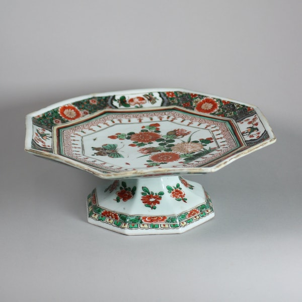Chinese famille verte octagonal tazza - image 3