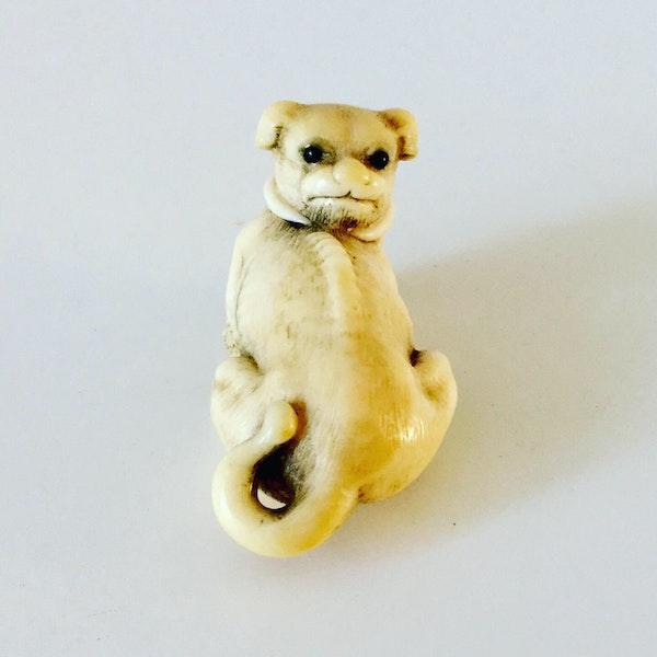 Netsuke of puppy - image 3