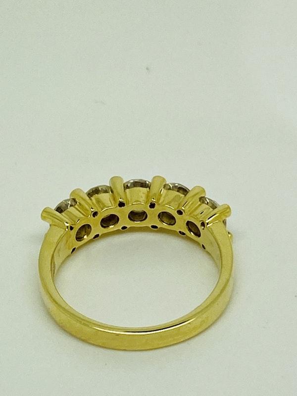 Half Eternity 5-stone Diamond Ring - image 5