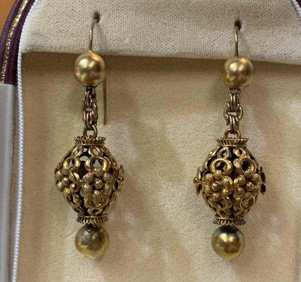Gold late Victorian earrings New Product - image 2