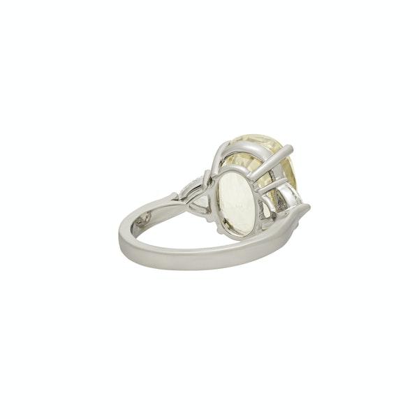 Natural Yellow Sapphire and Diamond Ring - image 2