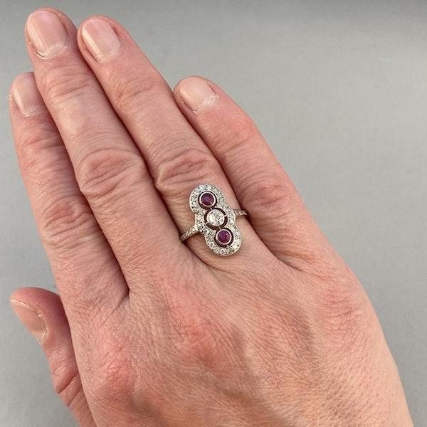 Ruby Diamond Ring in Platinum Date circa 1910  SHAPIRO & Co since1979 - image 3