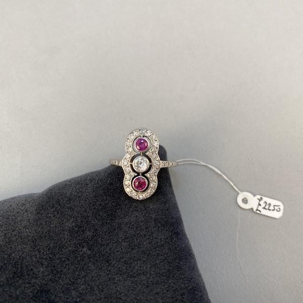 Ruby Diamond Ring in Platinum Date circa 1910  SHAPIRO & Co since1979 - image 8