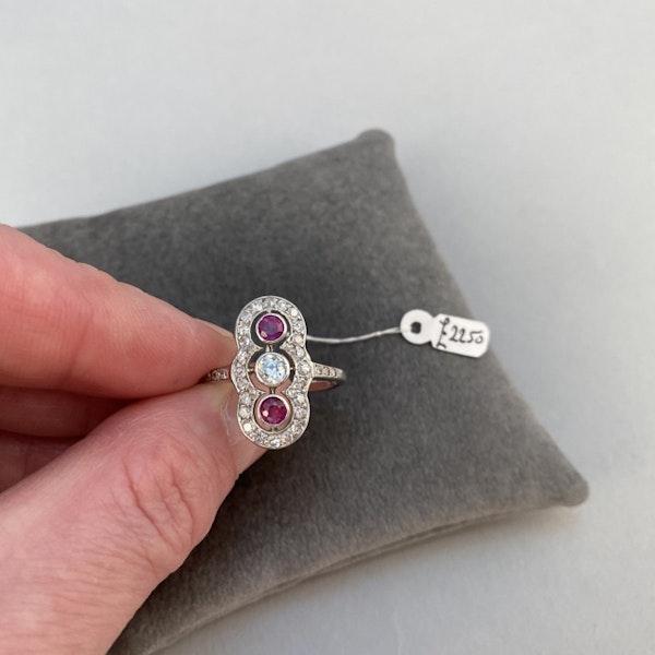 Ruby Diamond Ring in Platinum Date circa 1910  SHAPIRO & Co since1979 - image 4